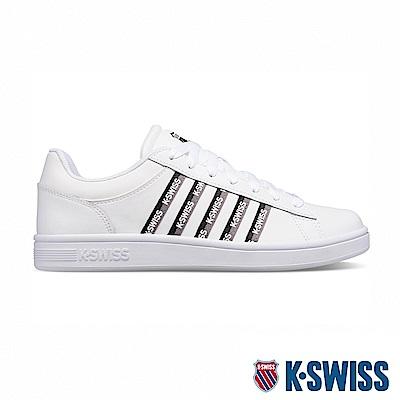 K-SWISS Court Winston Tape時尚運動鞋-男-白/黑/灰