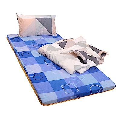 Embrace英柏絲 學生外宿組合 單人3尺 竹青透氣床墊+枕+被 宿舍 學生