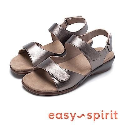 Easy Spirit seHARTWELL3 機能後增高繫帶涼鞋-鐵色