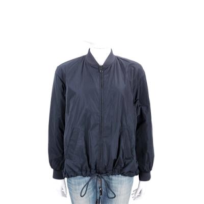 Emporio Armani Water Repellent 輕量防潑水黑藍色菱格紋雙面穿夾克