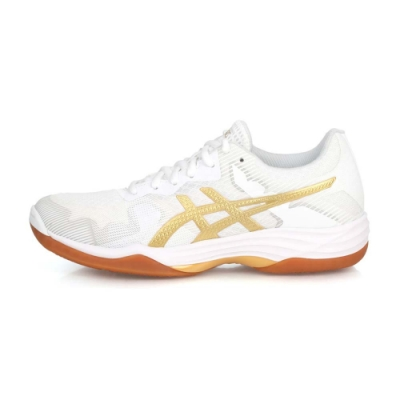 ASICS 女 排羽球鞋 GEL-TACTIC 白金