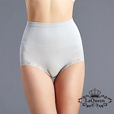塑褲  一體成型收腹蠶絲塑褲-灰 La Queen