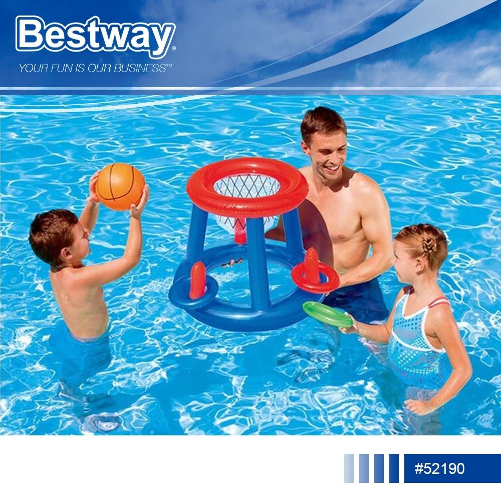 Bestway 52190水陸兩用充氣籃球架投籃玩具.親子休閒海邊泳池戲水居家室內充氣式