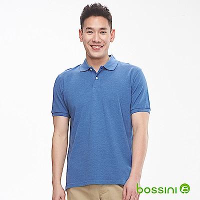 bossini男裝-純棉素色POLO衫19淡藍