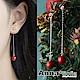 【3件5折】AnnaSofia 瓔紅垂長鏈珠 後掛墬925銀針耳針耳環(銀系) product thumbnail 1