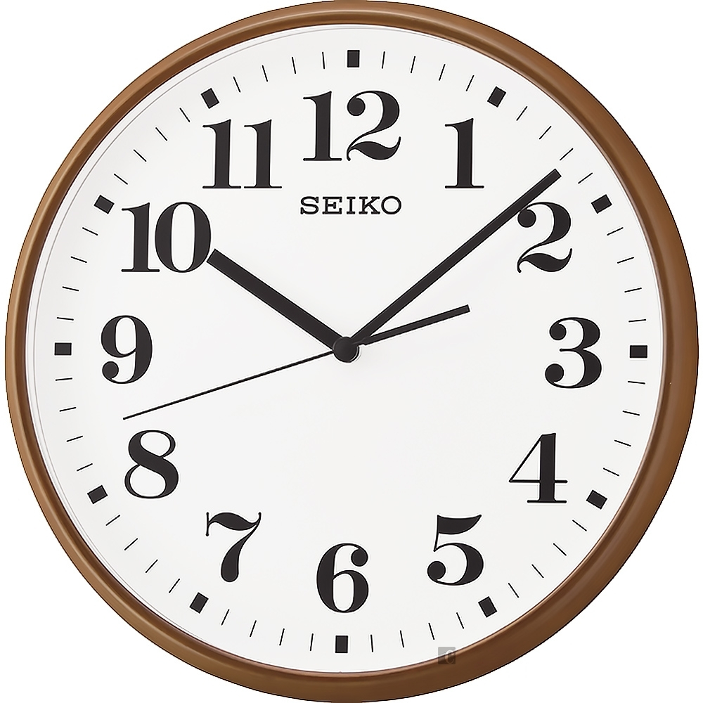 SEIKO 精工 指針式時尚掛鐘-棕框 QXA697B