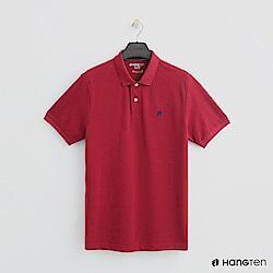 Hang Ten - 男裝 - 簡約素面POLO杉 - 紅