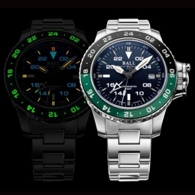 BALL Engineer GMT II兩地時間機械錶(DG2018C-S11C-BE)