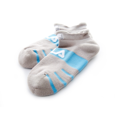 FILA 基本款半毛巾踝襪-藍 SCT-5001-BU