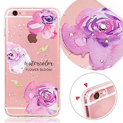 VAT APPLE iPhone6/6s 4.7吋 奧地利水晶彩繪氣墊手機鑽殼-花綻