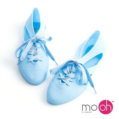 mo.oh-柔軟平底果凍沙灘涼鞋-藍色