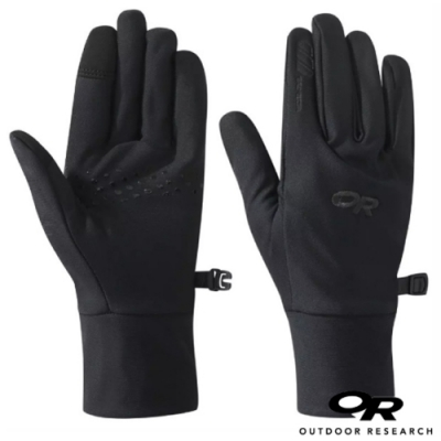 Outdoor Research 女 Vigor Lightweight Sensor Gloves 輕薄刷毛保暖手套_觸控手套_黑