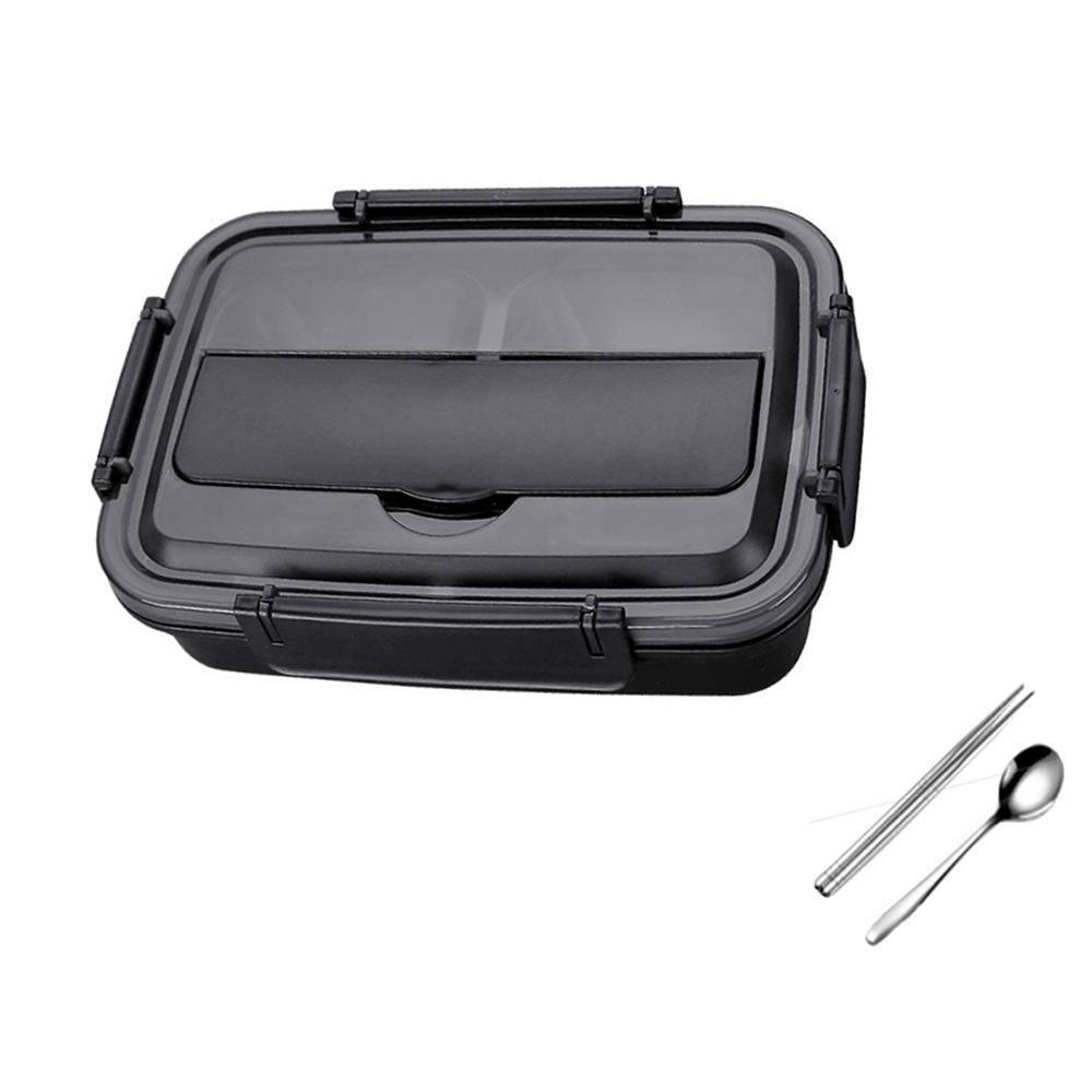 PUSH!餐具用品304不鏽鋼分格保溫飯盒餐盒學生便當防燙密封E138(快)