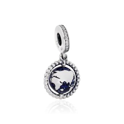 Pandora 潘朵拉 魅力地球儀 垂墜純銀墜飾