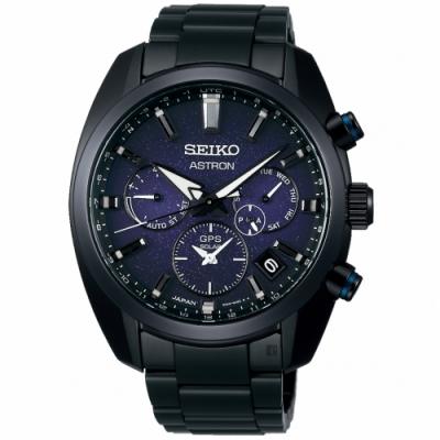 SEIKO 精工 Astron 夜空 GPS衛星定位雙時區手錶(SSH077J1/5X53-0BC0B)