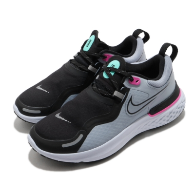Nike 慢跑鞋 React Miler Shield 女鞋 輕量 舒適 避震 運動 防潑水 黑 灰 CQ8249400