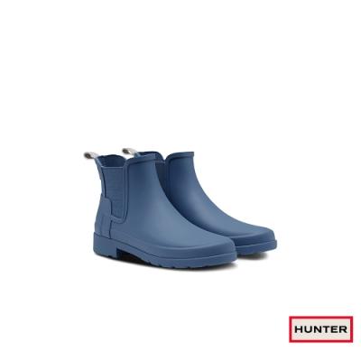 HUNTER - 女鞋 - Refined切爾西霧面踝靴 - 灰藍