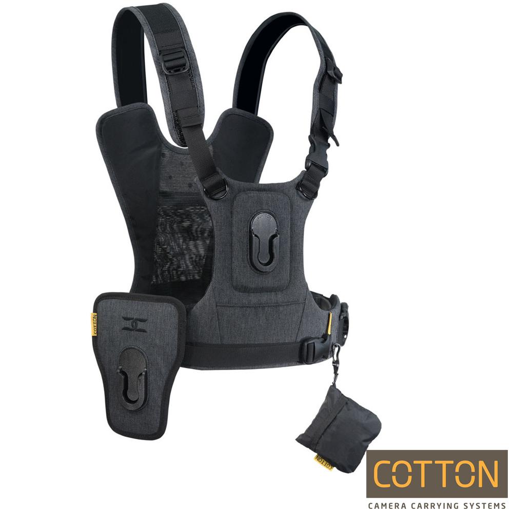 Cotton Carrier CCS G3 快取攝影背心-HARNESS-雙機(灰)