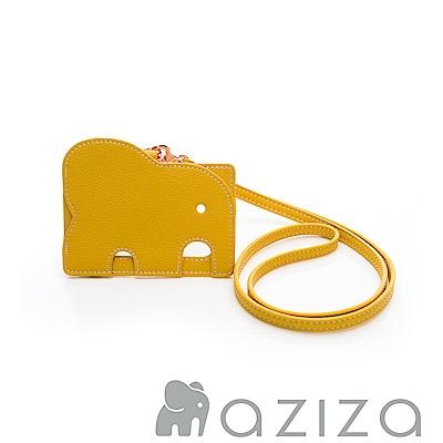 aziza 小象證件套-黃