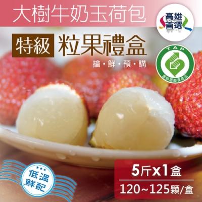 家購網嚴選 大樹牛奶玉荷包 特級粒果禮盒5斤/盒(120~125顆/盒)