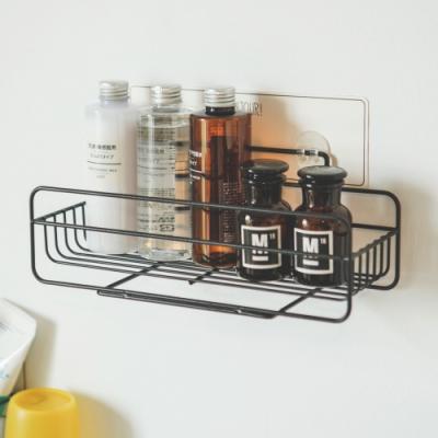 完美主義 烤漆黑化妝品架/瓶罐架/無痕貼(2入組)