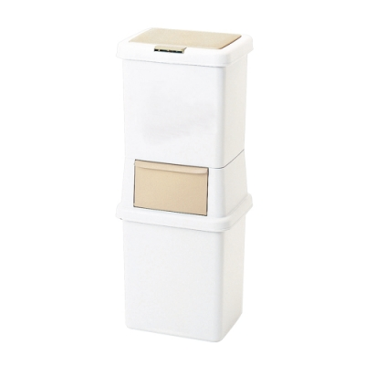 +O家窩 日本製諾亞寬型雙層分類垃圾桶-39L