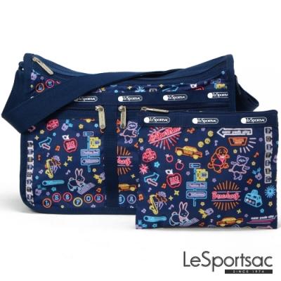 LeSportsac - Standard雙口袋A4大書包-附化妝包 (迪斯可之夜)