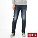 EDWIN EDGE LINE 大尺碼 雙層斜袋 窄直筒牛仔褲-男-原藍磨 product thumbnail 1