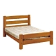 MUNA 柚木色圓柱3.5尺單人床架 111X209X88cm product thumbnail 1