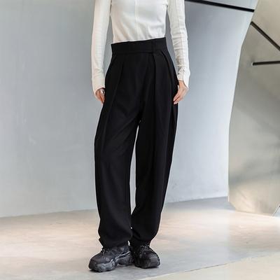 設計所在Style-韓版直筒魔術貼腰垂感長褲堆堆褲