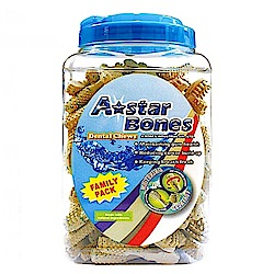 A star Bones 多效亮白雙刷頭潔牙骨 1900g【單桶】