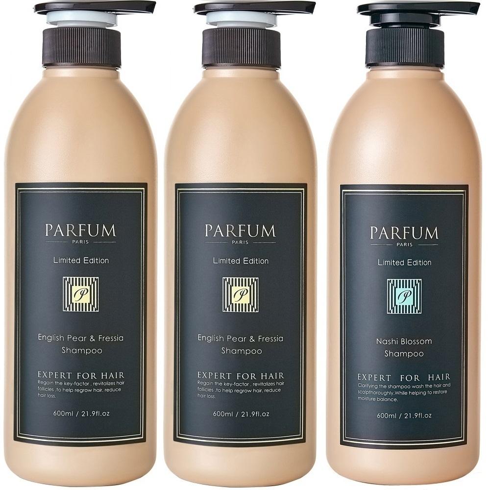 [時時樂限定] Parfum 巴黎帕芬 香氛精油洗髮精600mlX3