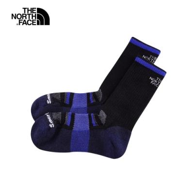 The North Face北面男女款黑紫色美麗諾羊毛運動長襪|3CNPKG7