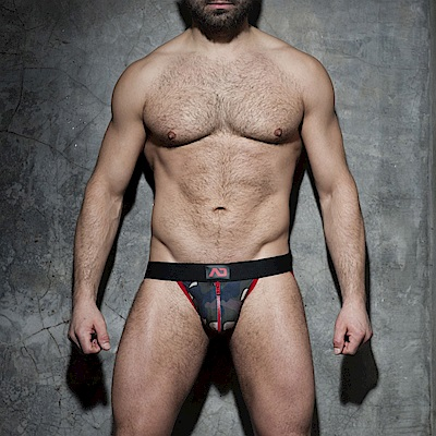 西班牙ADDICTED 迷彩拉鍊式提臀造型內褲(紅)