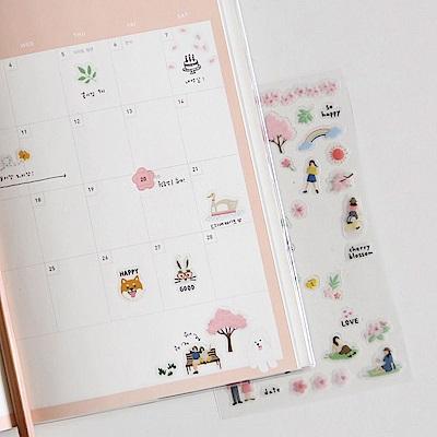 Dailylike 日日美好裝飾透明貼紙-31櫻花季
