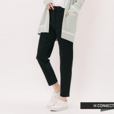 H:CONNECT 韓國品牌 女裝 - 素面修身高腰黑褲-黑