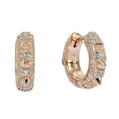 apm MONACO法國精品珠寶 閃耀鑲鋯Herisson玫瑰金耳環