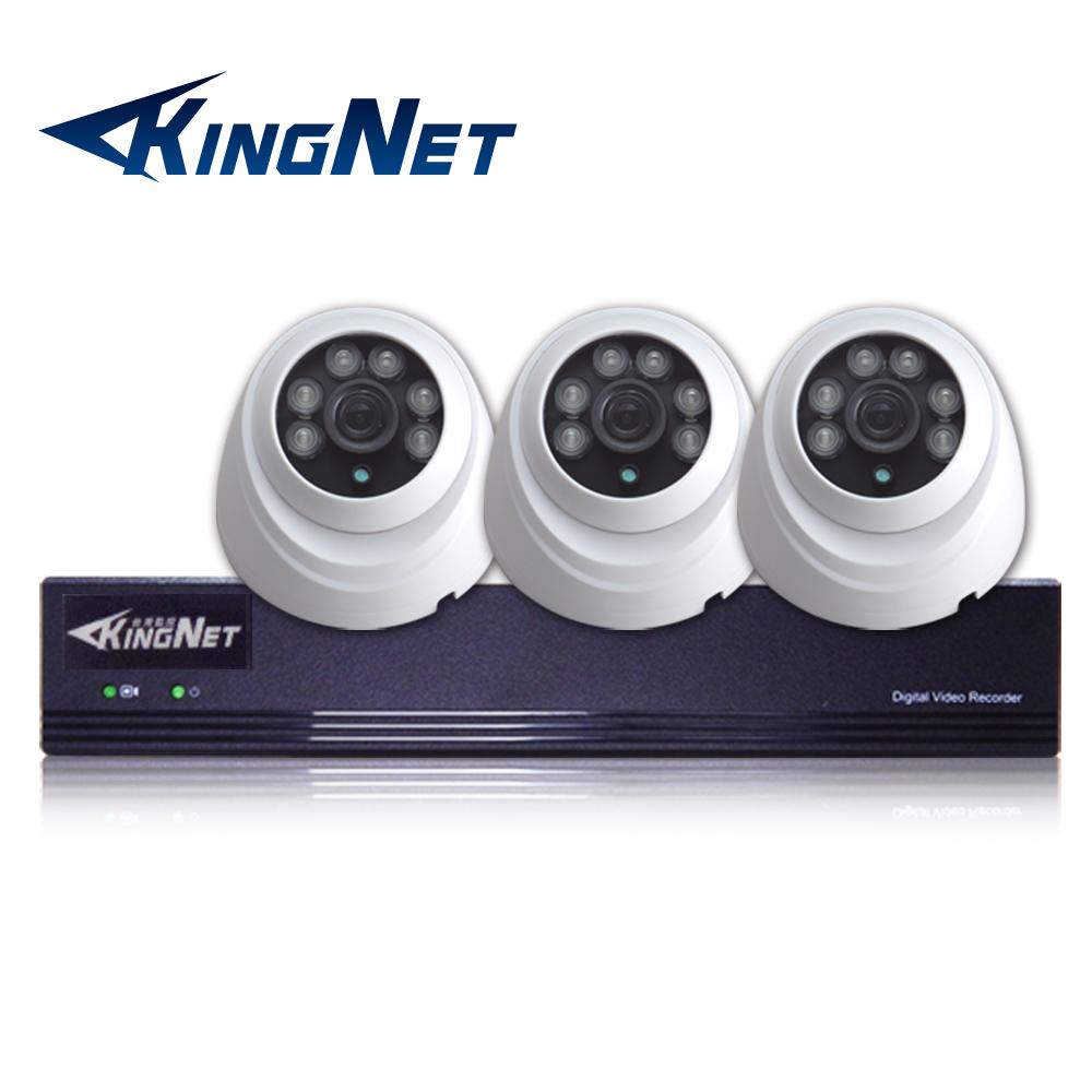 監視器攝影機 KINGNET 4路4MP監控主機 + 3支 HD 1080P 室內半球 @ Y!購物