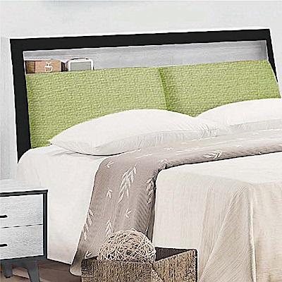 綠活居 奧迪雙色5尺貓抓皮革雙人床頭箱(不含床底)-152x30x108cm免組