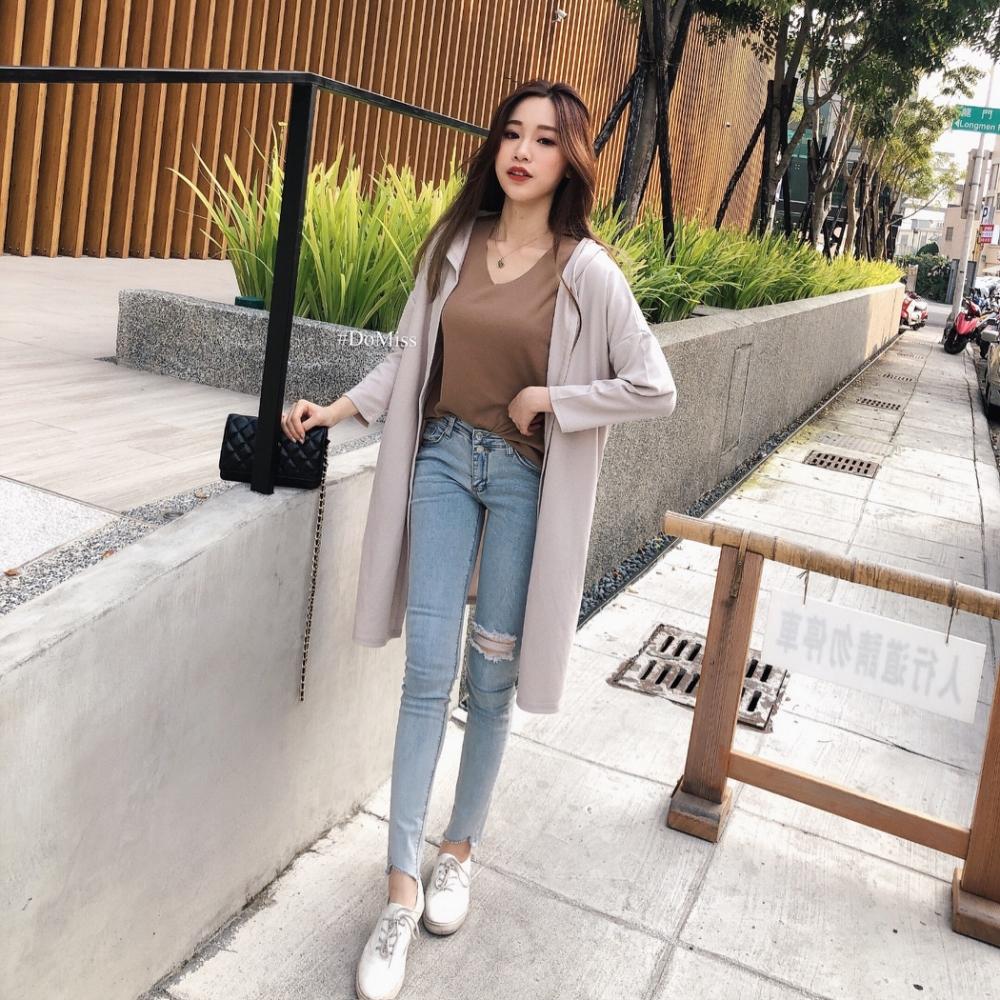 DoMiss韓國長版連帽口袋罩衫外套(3色)