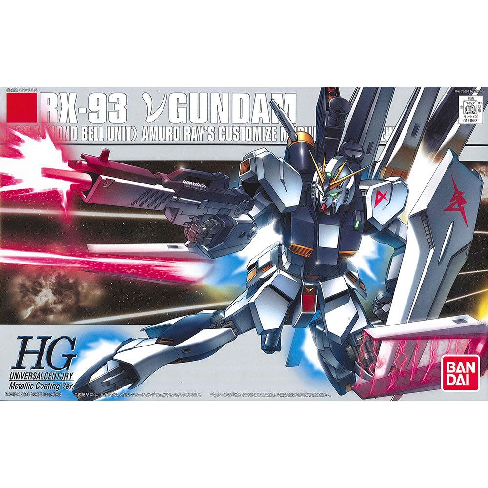 BANDAI GUNDAM鋼彈 HGUC 1/144 RX-93 ν Nu鋼彈 鈦合金版