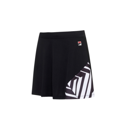 FILA 女抗UV吸濕排汗短裙-黑色 5SKU-5009-BK