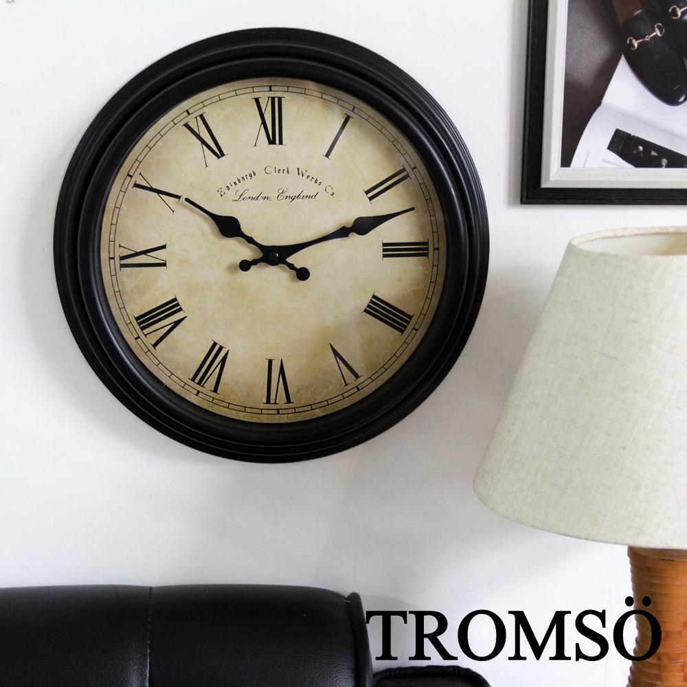 TROMSO倫敦百城羅馬數字時鐘-黑