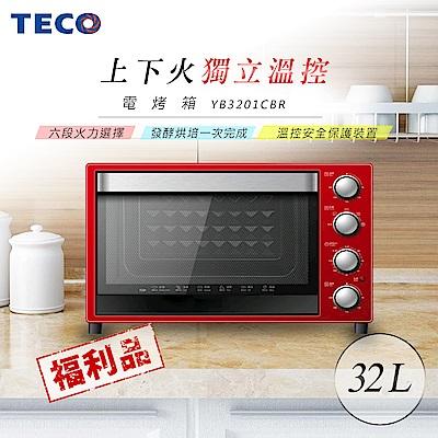 (福利品)TECO東元 32L雙溫控電烤箱 YB3201CBR