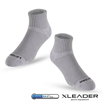 LEADER ST-06 Coolmax專業排汗除臭 機能運動襪 男款 灰色 - 急