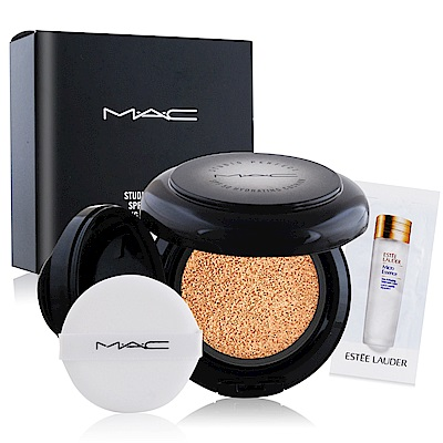 M.A.C 超持妝無瑕氣墊SPF50 12g多色可選+精華液試用包(隨機)X1
