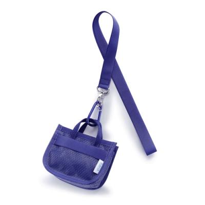 PORTER - 提袋造型頸掛零錢包 - 藍