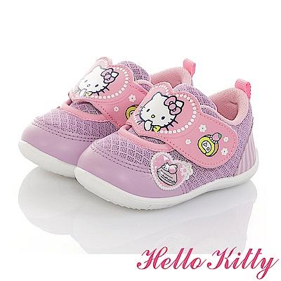 HelloKitty 透氣輕量抗菌防臭休閒學步童鞋-紫