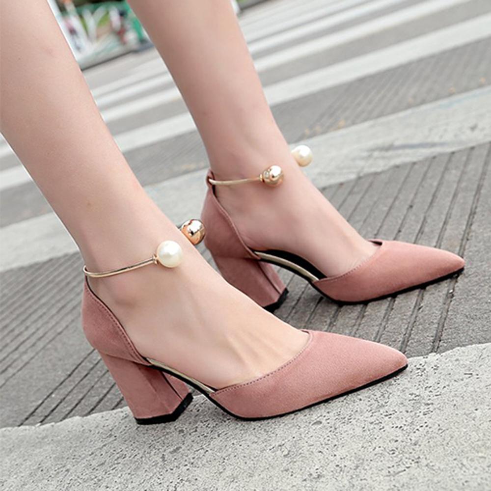 KEITH-WILL時尚鞋館 女人最大微醺傾心粗跟鞋-粉色