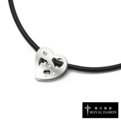 ROYAL DAMON x &MORE 鈦鍺項鍊 + 鍺錠白鋼墜 柔性美(小)